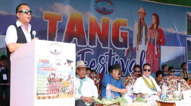 Sartang tribe celebrates TANG festival at Jerigaon