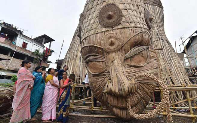 Guwahati: World's tallest Durga idol ready to enter Guinness Book World Records