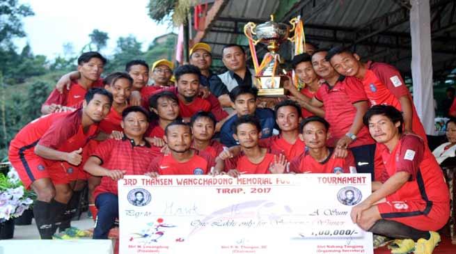 HAWK-16 FC Wins 3rd Thansen Wanchadong Memorial Football 2017