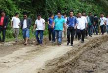 "Photo of USIYF begins ""Rasta Roko"" movement on Itanagar-Jote road"