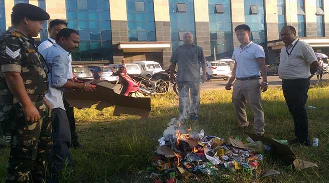 Awareness drive in Civil Secretariat, cigarette and tobacco product seized