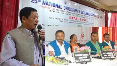 Photo of Bamang Mangha inaugurates National Children's Science Congress