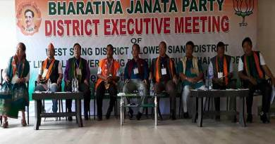 BJP West Siang district executive meeting held at Likabali