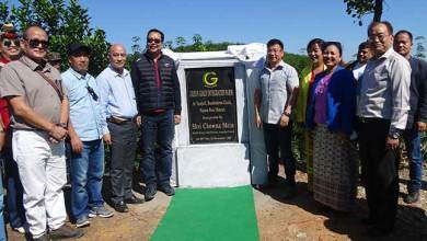 Photo of Chowna Mein inaugurates Green Gold Integrated Farm at Tarajuli