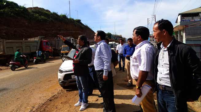 MORTH officials inspect various road projects