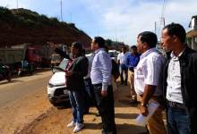 Photo of MORTH officials inspect various road projects