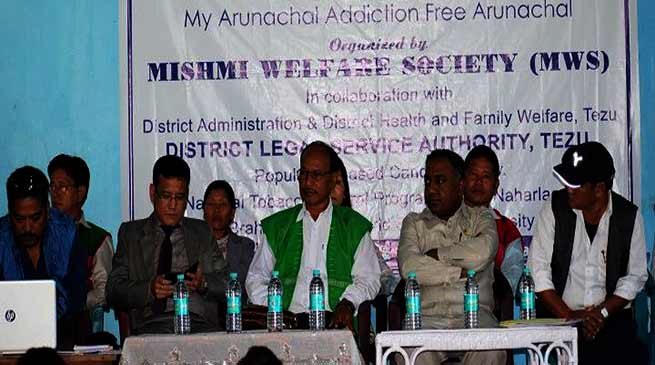"Awareness campaign for ""My Arunachal Addiction Free Arunachal"""