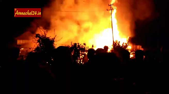 VIDEO- Another Fire incident in Ziro, 5 charred to death