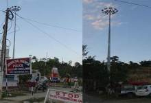 High Mass light post at Hollongi standing idle