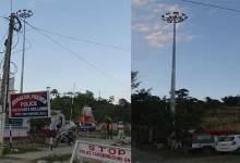 Photo of High Mass light post at Hollongi standing idle