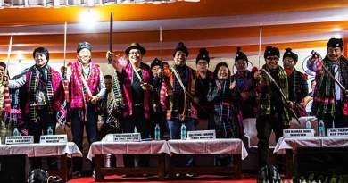 CM Khandu and his team addresses public meeting at Walong