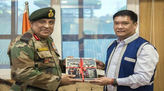 DG Assam Rifle meets with CM Pema Khandu, Discuss various issues
