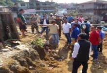 Photo of Locals alleges of excess land cutting for four lanning of NH-415