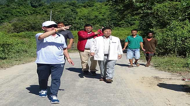 Nabam Rebia Searches Location for Army Cantonment