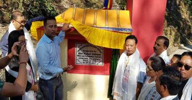 Parliamentary Secretary ( PHE & Ws ,Eco & Statistic) and MLA of  Thrizino-Buragoan constituency  Kumsi Sidisow today inaugurated 'Boudh Vihar' at Bhalukpong