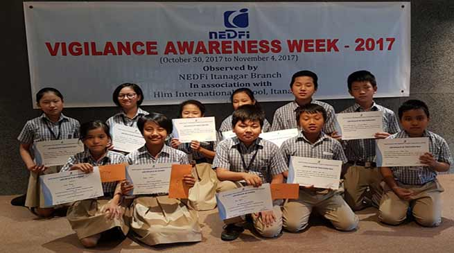 NEDFI organises Vigilance Awareness Week at HIM International School, Jully