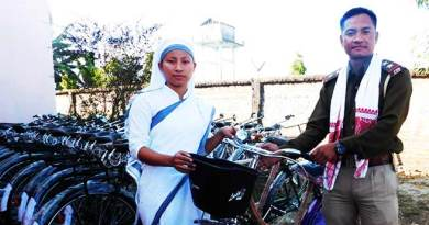 Arunachal-Diocese of Changlang Distributes Bicycles