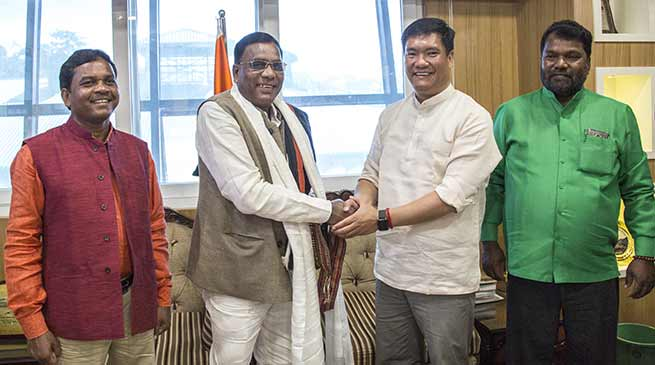 Itanagar- Jharkhand Legislatures meet CM Pema Khandu
