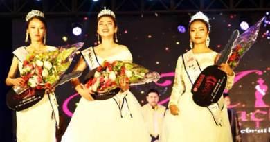 Itanagar: Osin Mosu was crownedMiss Arunachal-2017
