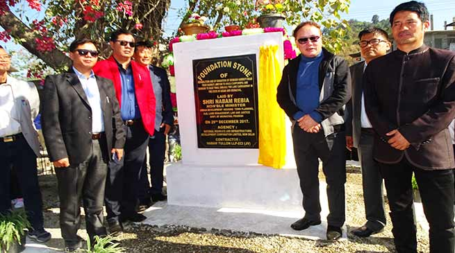 Rebia lays foundation stone up-gradation of Doimukkh-Harmuty road