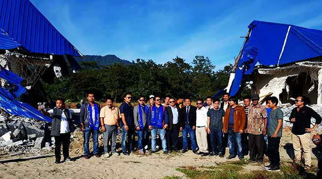 AAPSU team visits site of demolished tourist guest houses