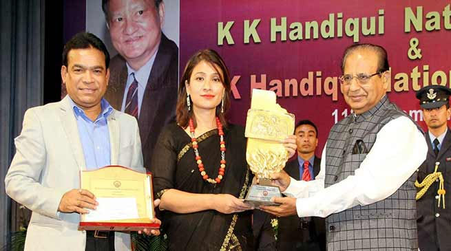Anshu Jamsenpa conferred KK Handiqui National Fellowship Award