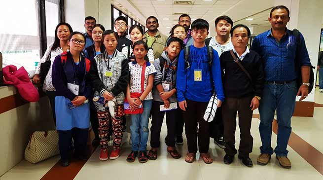 Arunachal Team reaches Ahmedabad to attend 25th National children science congress