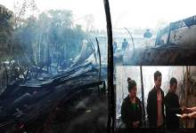 Photo of Two houses destroyed by fire in Itanagar