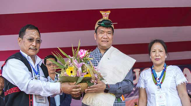 CM Pema Khandu attends 'Indigenous Faith Day'
