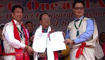 "CM Khandu inaugurates Arunachal's 22nd district "" Kamle"""