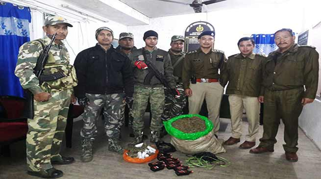 Capital Police seized Cannabis worth more than thirty thousand from three different location of Itanagar township on Friday night.