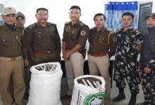 Itanagar Capital Police recovered huge cache of cannabis