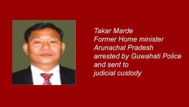 Photo of Former Arunachal minister arrested for obstructing traffic police