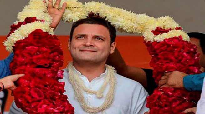 Nabam Tuki, Takam Sanjay congratulates Rahul Gandhi
