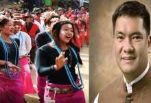 Arunachal: CM Pema Khandu greet people on Si Donyi