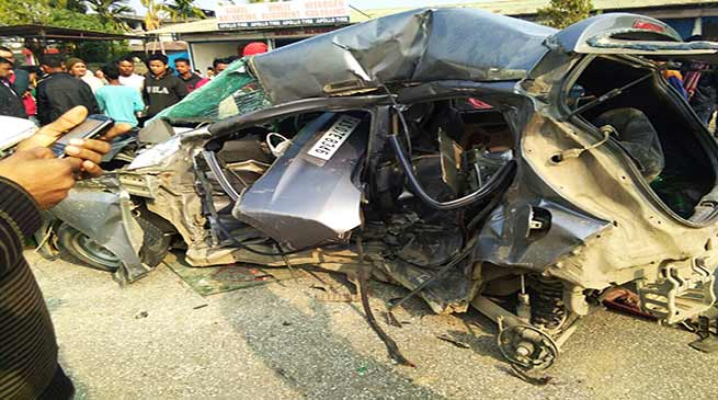 Arunachal: 3 dies in Bolero-Eon head-on collision at NH-52