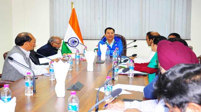 Expedite construction work of Arunachal Bhawan at Guwahati and Delhi- Chowna Mein