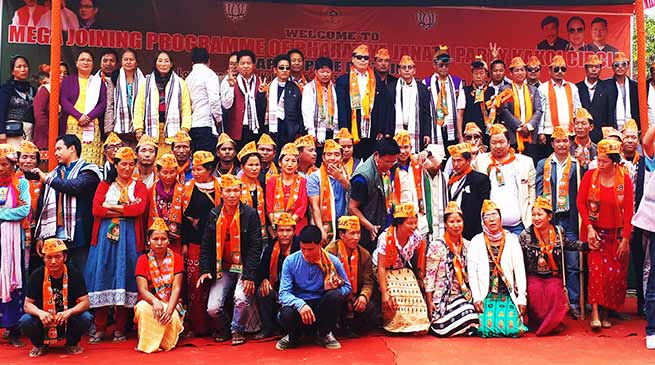 Arunachal: 145 Congress workers Joins BJP in Papum Pare dist