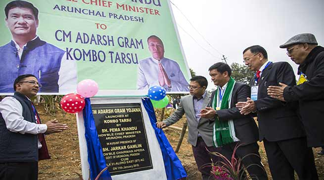 Arunachal: Khandu inaugurates Adarsh Gram Yojana at Kombo Tarsu village