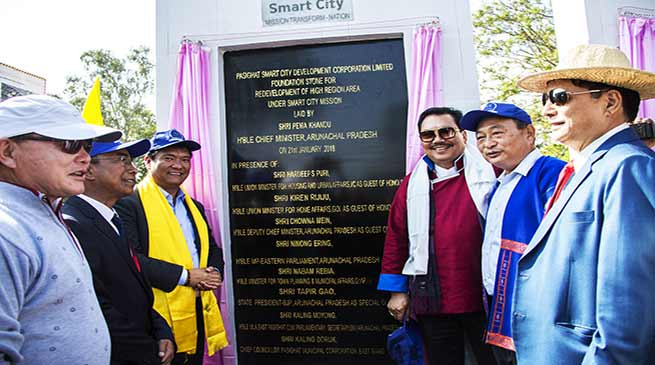 Arunachal: Khandu lays foundation stone for Pasighat Smart City