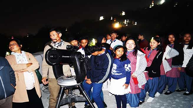 Lunar Eclipse 2018 observed at Arunachal Pradesh Science Centre
