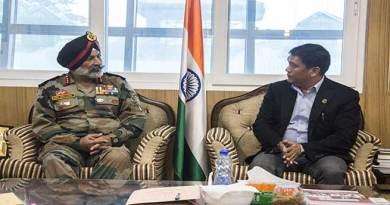 4 Corps GOC Lt Gen GS Sangha calls on Arunachal CM