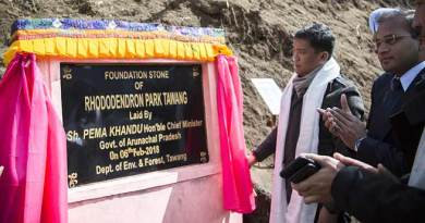 Arunachal: Khandu lays foundation stone for Rhododendron Park in Tawang