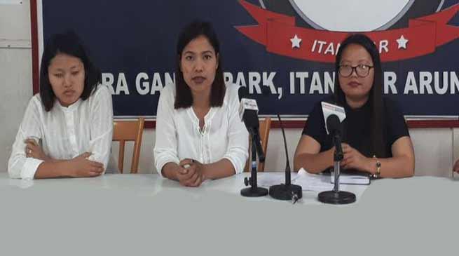 Arunachal: AAPSU women wing concern over women's safety