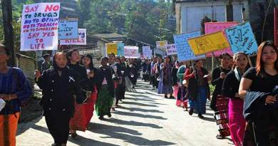 Arunachal:  Mass Rally against Kani and Drug Abuse