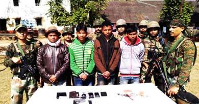 Arunachal: Four ULFA (I) OGWs apprehended in Changlang dist