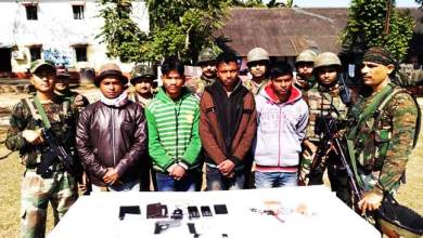 Photo of Arunachal: Four ULFA (I) OGWs apprehended in Changlang dist