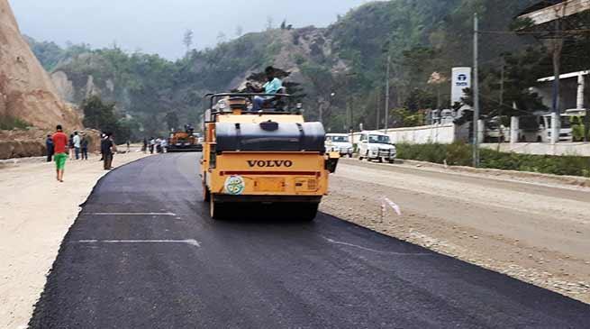 Arunachal: Carpeting works on Itanagar-Naharlagun NH-415 begins