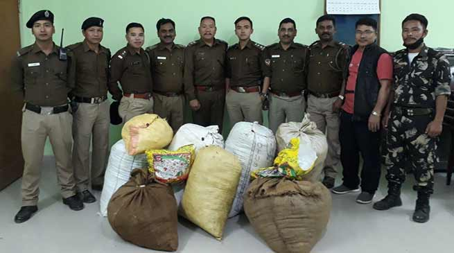 Arunachl : Capital police seizes huge amount of Ganja, detained 4 person