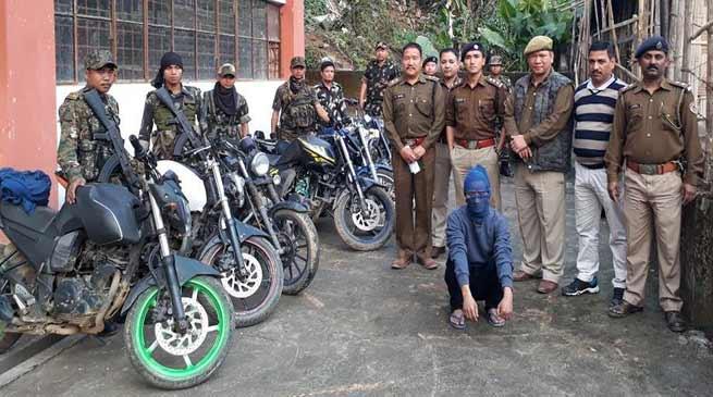 Arunachal: Itanagar Police recovered huge catch of stolen two wheelers